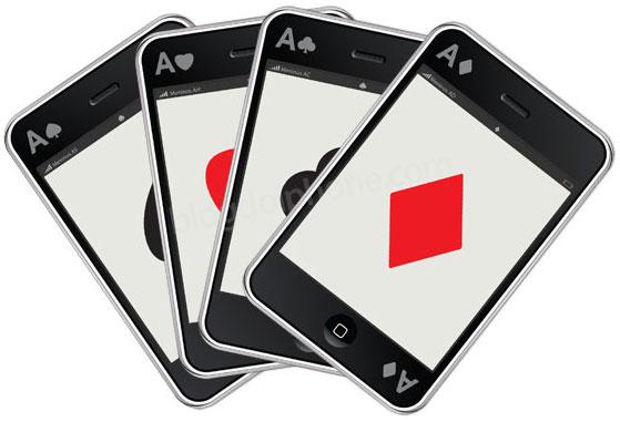 Baralho em forma de iPhone