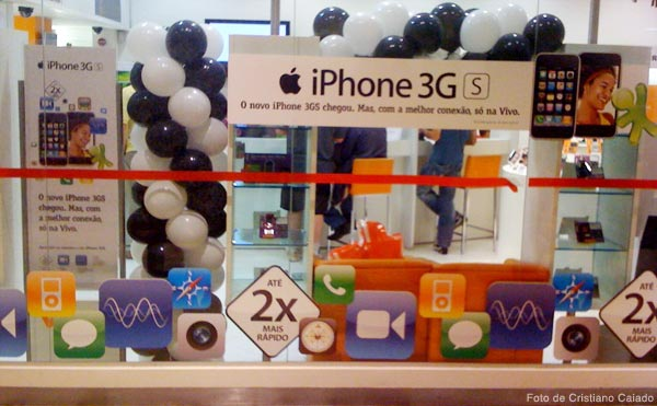 Loja preparada para o iPhone 3GS