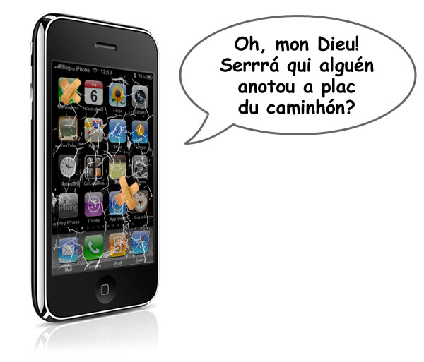 Problema de iPhones rachados na França