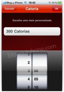 Estabeleça as calorias que você quer perder