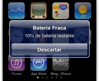 10% restante de bateria