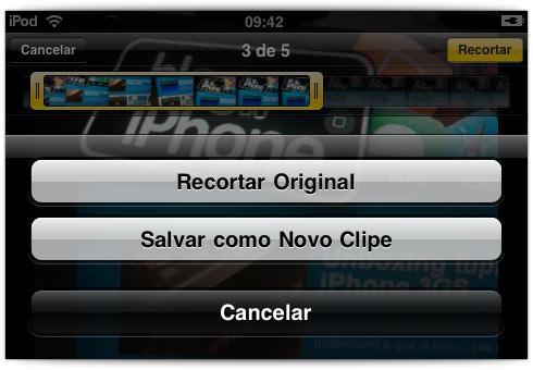 Edição de vídeo no iPod