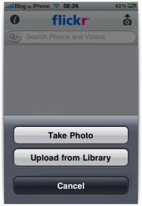 Upload apenas de fotos