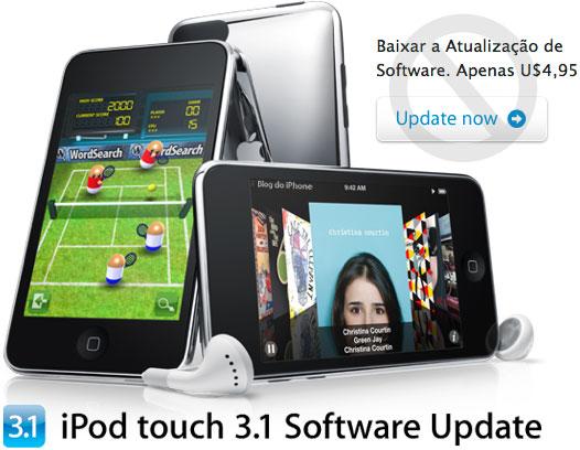 Atualização do software do iPod touch