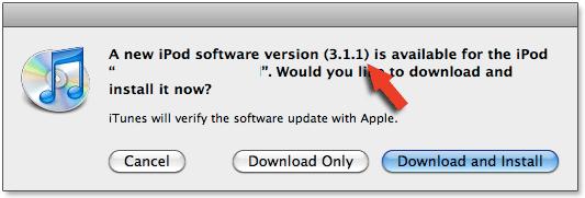 iPod OS 3.1.1