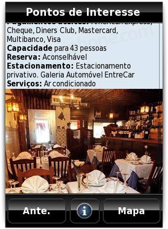 Detalhes dos POI (Pontos de Interesse)