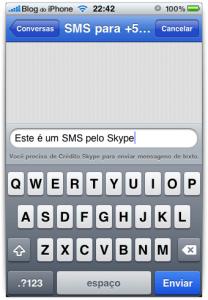 SMS no Skype