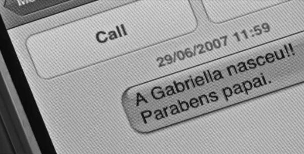 SMS em um iPhone