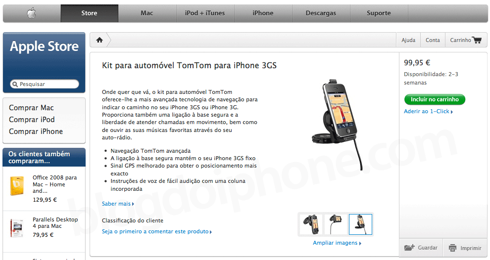 Kit TomTom na Apple Store Online