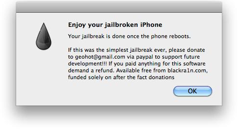 Enjoy your jailbroken iPhone