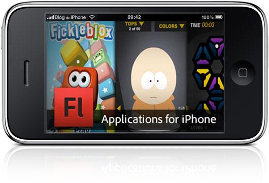 Aplicativos em Flash no iPhone