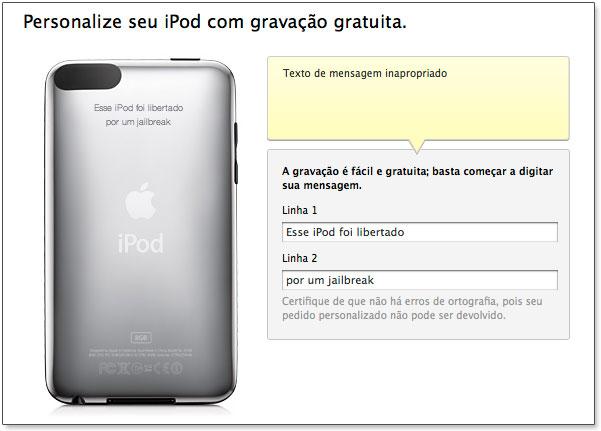 Mensagens censuradas pela Apple