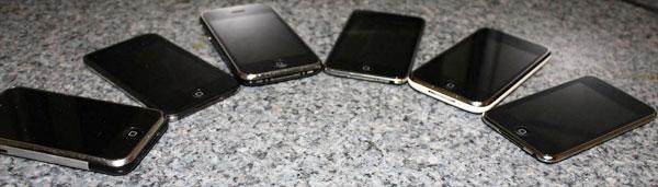 Todas as gerações do iPhone e iPod touch