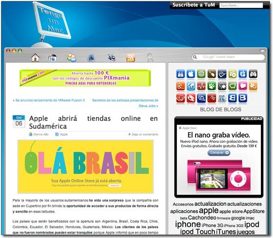 Notícias em espanhol