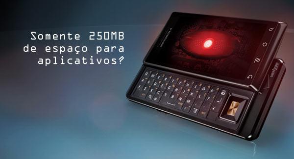 Droid: com teclado e limitado