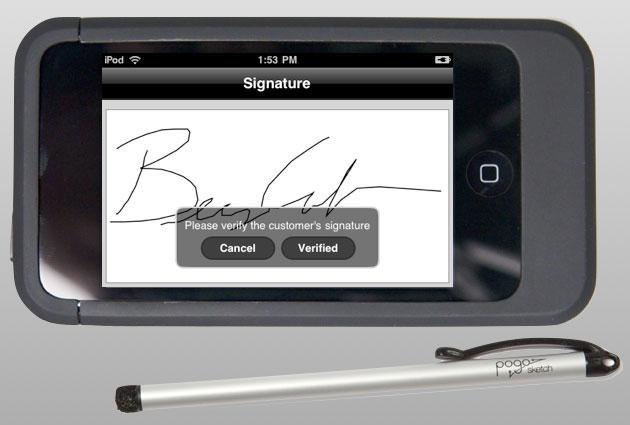 Assinatura direto na tela