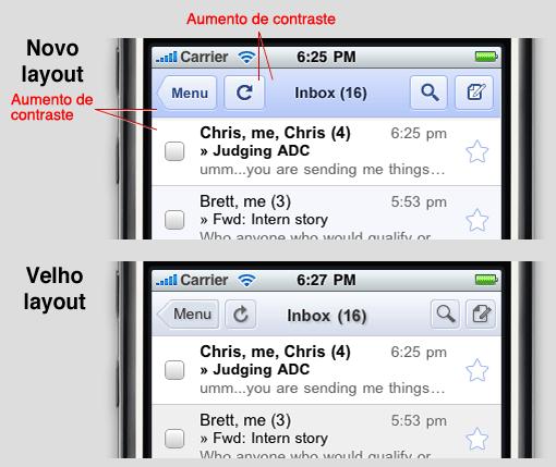 Novo layout Gmail