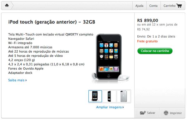 iPod touch de 1a geração