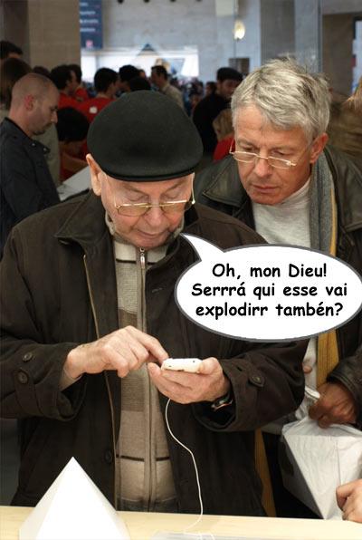 Franceses interessados no iPhone