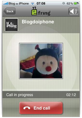 Chamadas com vídeo no iPhone