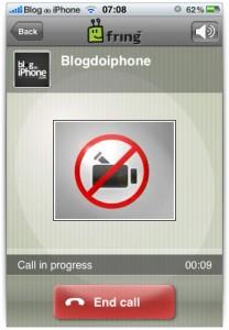 Chamadas de iPhone para iPhone sem vídeo