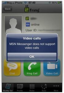 Nada de MSN por enquanto
