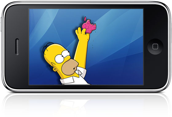 Simpsons no iPhone