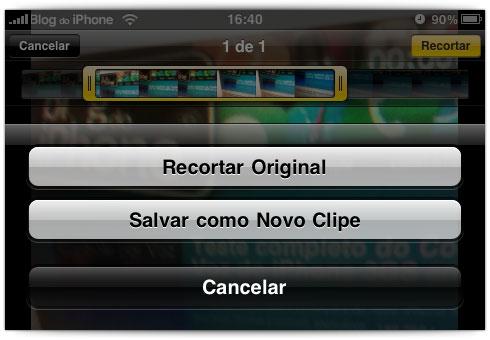 Edição de vídeos mesmo no Classic e 3G