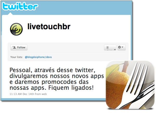 Twitter da Livetouch