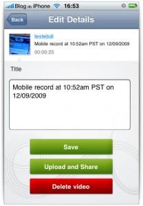 Você pode gravar ou enviar seu vídeo para publicação online