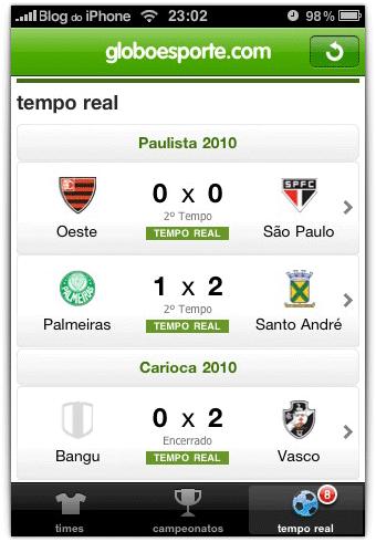 Globoesportecom Lança Aplicativo De Futebol Para Iphone E